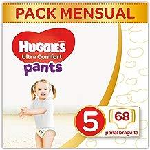 Huggies Ultra Comfort Pañales Braguita Talla 5 (12-17 Kg) - 68 Pañales
