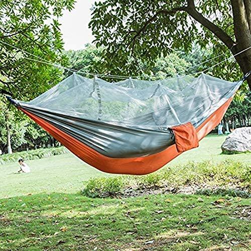 Hamaca portátil para Acampar, Tela de paracaídas, Hamaca portátil con mosquitera para Dos Personas, Equipo para Exteriores, Muebles para Acampar