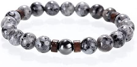 sensitives McIlroy Stone Bracelet/Beads/Lava/Natural/Homme/Fashion/Bangles Bracelet Men Wooden Bead Accessory Jewelry Male Valentine Gift,Style C,L 205mm