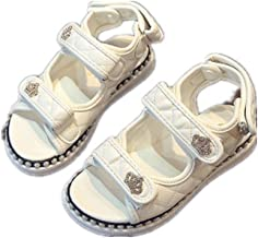 MIKA HOM Boy's Girl's Leather Closed Toe Outdoor Sport Sandals