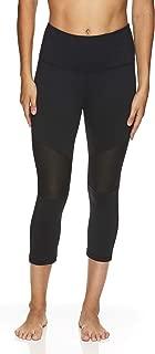 HEAD Women's High Waisted Capri Workout Leggings - Crop Activewear Gym & Running Pants