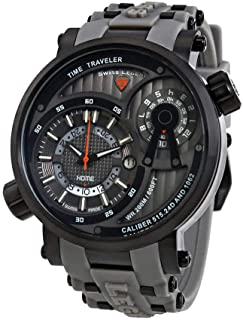Swiss Legend Time Traveler Mens Watch SL-13841SM-BB-014-GRYS