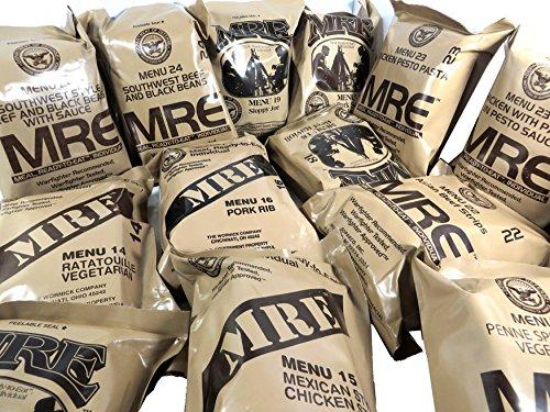 MRE - Ración de comida militar, lista para comer, del ejército de Estados Unidos, diferentes menús, Chicken Pesto Pasta