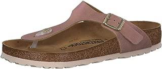 Birkenstock Unisex Gizeh Washed Metallic Suede Sandals
