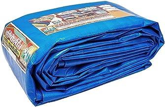 SHREE TARPAULINS Sheets Waterproof 100% Pure Virgin UV Treated 150 GSM Blue Plastic (40 FT X 24 FT)