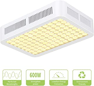600W Grow Light,CXhome Reflector Series Full Spectrum Led Growing Lights for Indoor Plants for Hydroponic Greenhouse Seeding Flower and Veg Has Daisy Chain Function