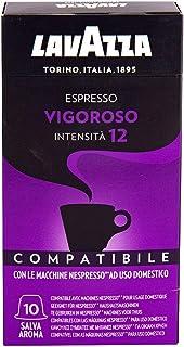 Lavazza Cápsulas de Café Compatibles Nespresso Espresso Vigoroso, 10 Paquetes de 10 Cápsulas (Total: 100 Cápsulas)