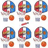 Magic Shot Mini Basketball Hoop Set with Ball and Pump Bulk Kids Party Favors (6 Pack)