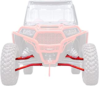 SuperATV High Clearance Forward Offset Front A-Arms for Polaris RZR XP 1000/4 1000 (2014+) - Red - Standard Ball Joints - Non-Adjustable