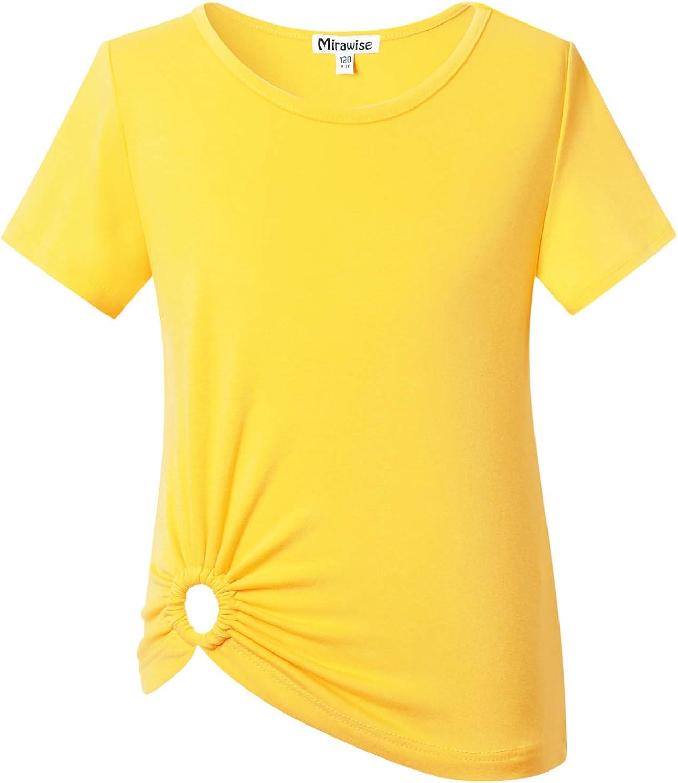 Girl's Short Sleeve Summer Casual Tops Tee T Shirt Top Casual Tee 4-13Y