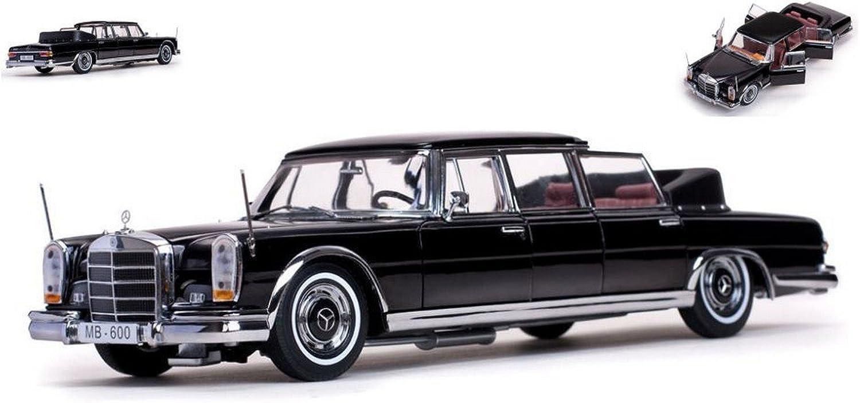 SUNSTAR SS2302 MERCEDES 600 LANDAULET 1966 schwarz 1 18 MODELLINO DIE CAST MODEL
