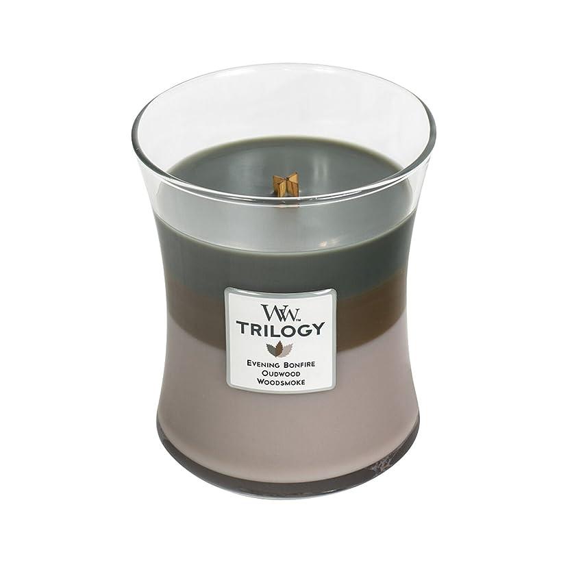 飢えマルコポーロシリーズWoodwick Trilogy Cozy Cabin、3?- in - 1?Highly Scented Candle、クラシック砂時計Jar、Medium 4インチ、9.7?Oz