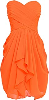 CladiyaDress Women Sweetheart Chiffon Short Homecoming Dresses Quinceanera Gowns D201LF