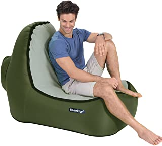 Grab a Comfy Seat with BeauTrip Outdoor Inflatable Lounge Chair – Incredible Ergonomic Design Air Lounger Sofa – Ideal Picnic/Camping/Beach Chairs, Air Hammocks – Hangout and Enjoy Great Outdoors