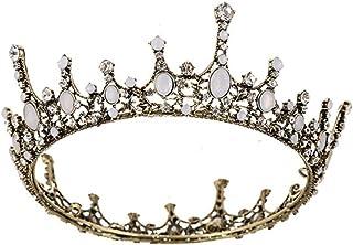 LUCKYYY Accessori Sposa Corona Accessori Sposa Copricapo Cristallo Fatto a Mano