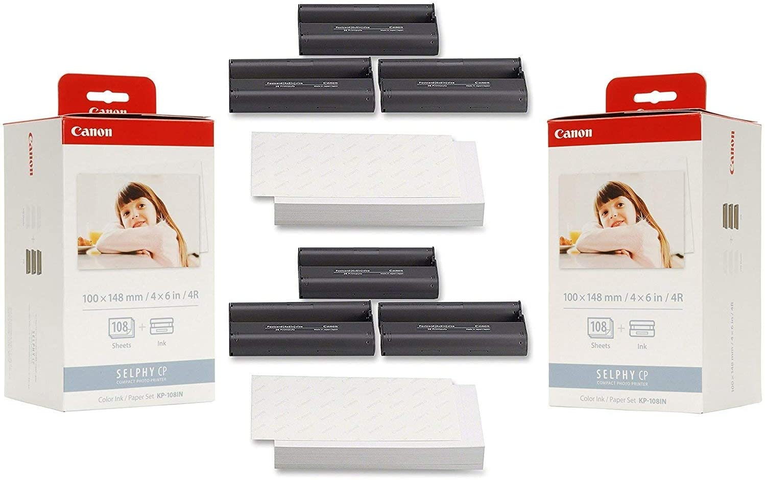 Canon Store KP-108IN Ink Paper Set 2 216 Prints Mesa Mall 3115B001-X2 - Pack