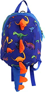 ADELA 10'' Kids Dinosaur Daypack School bag Toddler Backpack for Boys Girls-Safety Leash Anti-lost,1-4Yrs Old