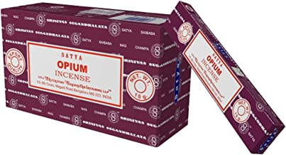 Genuine Satya Sai Baba Opium Incense Sticks 15 g X 12 pks