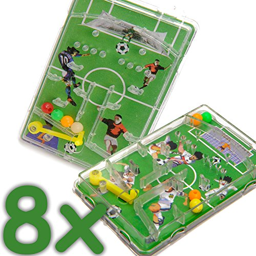 Carpeta® - 8 x Flipper Fußball ┃ Mitgebsel ┃ Kindergeburtstag ┃ Games ┃ Kinder lieben Dieses Flipperspiel