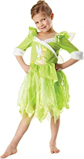 Rubie's 881869-L, Tinkerbell Winter Costume for Girls, Green, L