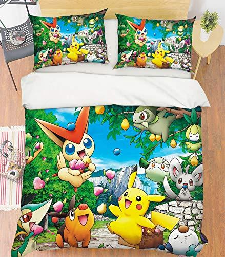 AJ WALLPAPER 3D Duvet Cover for Pokemon Pikachu 055
