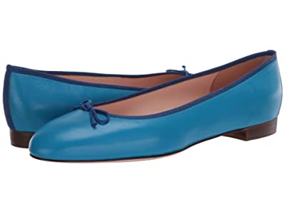 J.Crew Leather Uptown Classic Ballet (Prussian Blue) Women