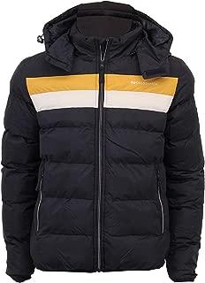 Homme veste à capuche Crosshatch Bulle Puffer Rembourré Polaire Doublé Zip Hiver