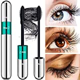 4D Lash Extension Mascara - DRMODE Waterproof Silk Fiber Volume Mascara, Natural and False Lash Look in One Mascara, Long Lasting Mascara for Definition - Noir