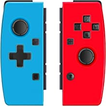 Haolide Non-Original Left and Right Controller Wireless Game Handle for Switch, Gyro Axis Gaming Gamepad Joypad