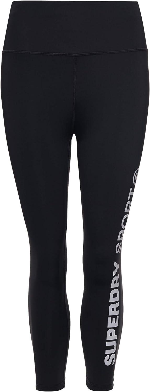 Superdry Sport Training Essential Capri Leggings Black