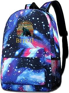 Galaxy Printed Shoulders Bag Voldemort Avada Kedavra Bitch Fashion Casual Star Sky Backpack For Boys&girls