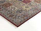 TIWA GHOM echter klassischer Orient-Felder-Teppich handgeknüpft in rot-creme, Größe: 80x150 cm - 5