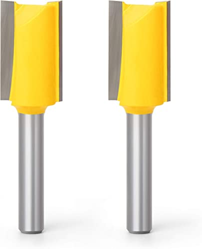 lowest MEIGGTOOL lowest 2Pcs 1/4-Inch Shank Straight Router Bit Set for Woodworking Groove Chisel Bits, Cutting Diameters 2021 5/8 inch outlet online sale