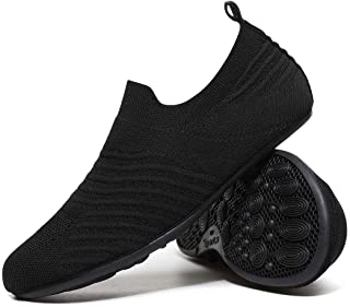 Hayeabi Lightweight House Slippers Slip On Home Sock Shoes for Womens Mens