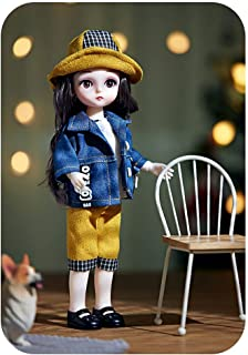 CENXIO Doll Play Sets Clothes Shoes Toys For Girls Children 5D Eyes Eyelashes Surprise Birthday Gift - 5#