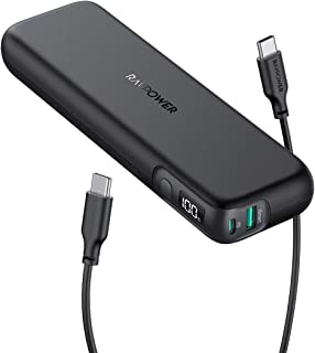 $39 » Portable Charger RAVPower 15000mAh PD 3.0 Power Bank 30W Total Output USB C 18W with LED Display Slim Battery Pack QC Charging for iPhone 11 Pro Xs X iPad Pro 2019 Samsung S10 Pixel 4XL 3XL and More