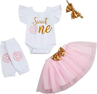 Baby Girl My 1st Birthday Cake Smash Skirt Set Toddler Girl One in a Melon Romper Tutu Skirt with Headband Outfits