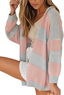 Women Casual Cardigans Oversized Open Front Knit Cardigan Sweaters