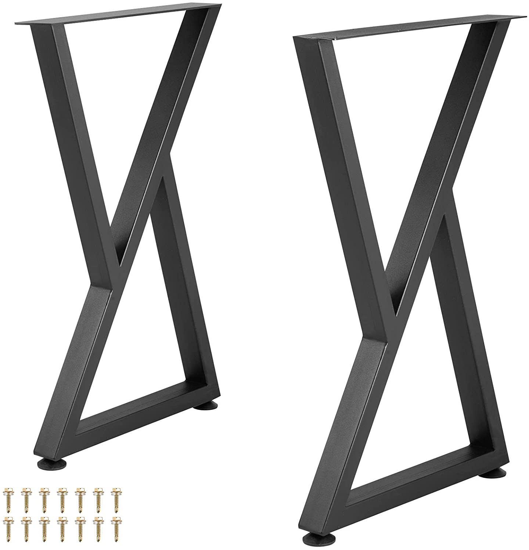 VEVOR Rare Metal Table Legs Special price 28x18 inch 2 of Heavy Desk Set Du