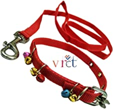 VRCT Nylon Puppy Dogs Collar Belt and Leash (Extra Small) (Assorted Color), Nylon, (Pack of 1)