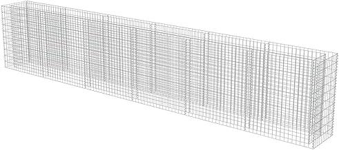 vidaXL Gabion Plantenbak 540x50x100 cm Gegalvaniseerd Staal Gabionwand Tuinhek