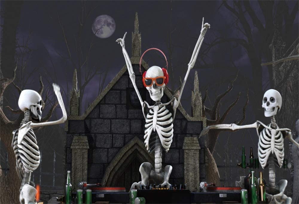AOFOTO 9x6ft Halloween Laboratory Backdrop Happy We OFFer at cheap Popular overseas prices Danc Night Moon