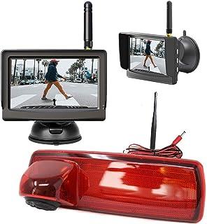 3. Bremslicht Digital Kabellose Funk Rückfahrkamera Kompatibel mit Renault Trafic & Opel Vivaro mit 5' HD Monitor   Bis zu 5 Jahre Garantie, Transporter Rückfahrsystem Kamera mit Sony CCD Chipset