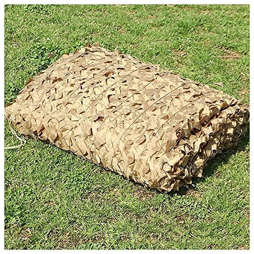 JUNWEN LHX2MX3M Neto de camuflaje, × 5m Neto de camuflaje Net de refuerzo agregado, para esconder la carpa de la pesca de la decoración del jardín, beige (tamaño: 5 * 8m16.4 * 26.2ft)   Código de prod