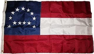AES 3x5 Embroidered Sewn Robert E. Lee 210D Duramax Nylon Flag 3'x5'