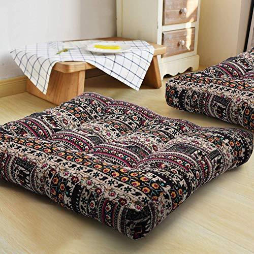 FJXQCY Mandala Floor Cuscino India Cuscino Quadrato ottomano Oversize Divano-Letto Cuscino del Divano Nazionale Meditation Pillow