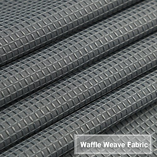 NANAN Waffle Woven Textured Short Curtains for Kitchen Waterproof Window Covering for Bathroom - 30