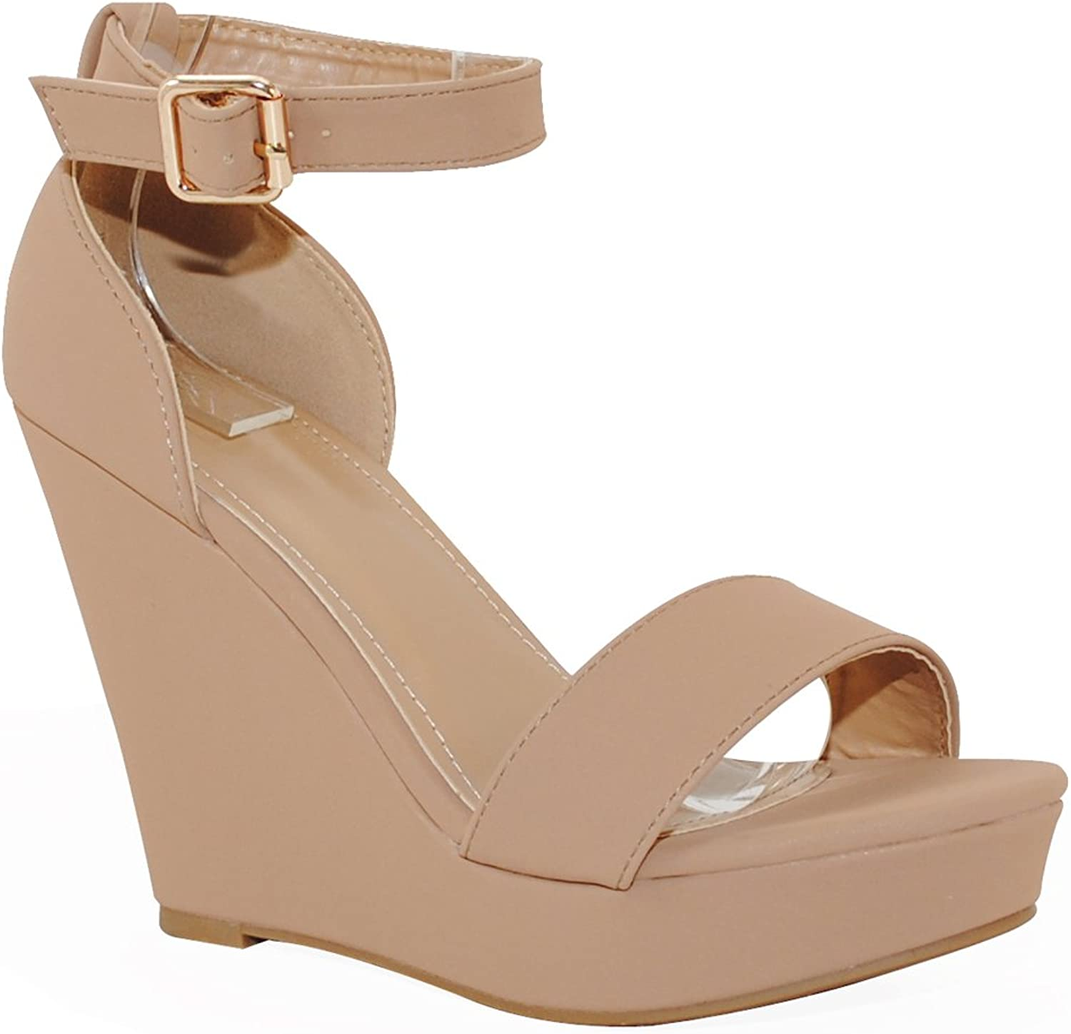 TRENDSup Collection Women's Fashion Platform Wedge Sandals