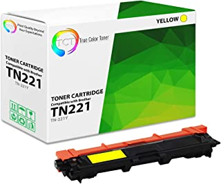 TCT Premium Compatible Toner Cartridge Replacement for Brother TN-221 TN221Y Yellow Works with Brother HL-3140 3150 3152 3170, MFC-9130 9140 9330 9340, DCP-9020 Printers (1,400 Pages)