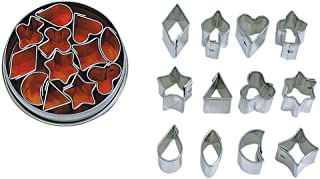 R&M International 1983 Mini Jelly and Aspic Cutters, Assorted Shapes, 12-Piece Set